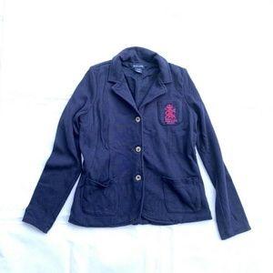 Ralph Lauren Blazer Jacket Girls Blue SZ. 12/14 M